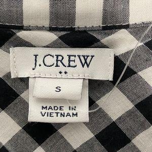 J. Crew Tops - J. Crew Black & White Gingham Tie Waist Shirt